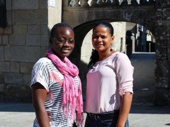 A mozambicana Ailina da Marta e a caboverdiana Paula Pina, en Pontevedra.
