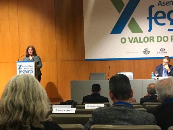 A vicepresidenta do Fondo Galego deulle lectura á moción.