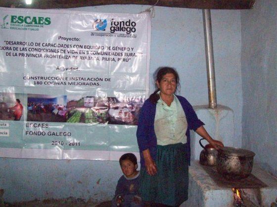 As cociñas melloradas do proxecto con Amigos Escaes Perú reduciron o consumo de leña e a inhalación de fumes.