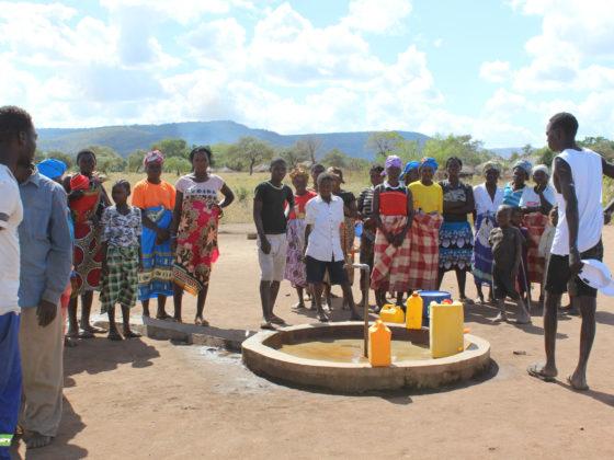Construción de pozos de auga