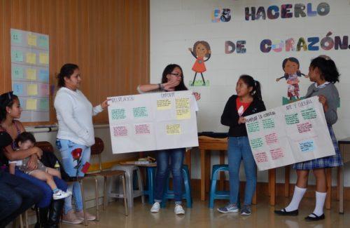 Os obradoiros nos centros educativos constituíron unha das actividades centrais do proxecto.