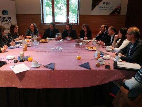 Almorzo Xusto no Parlamento de Galicia.