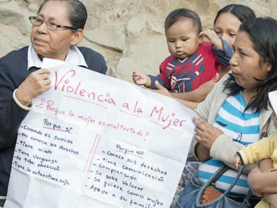 Participación das mulleres quechuas e aimaras organizadas