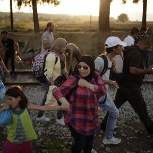 Persoas refuxiadas en tránsito cara Europa. FOTO: Felipe Carnotto.
