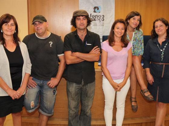Marga Figueroa, Carlos Puga, Gabriel Tizón, Gema Filgueira, Sonia Daponte e Teresa París.